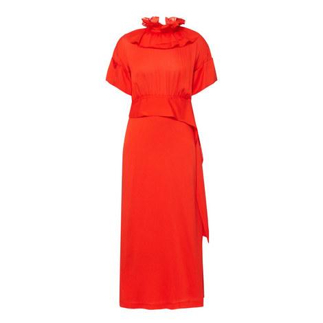 Ruffle Neck Dress, ${color}