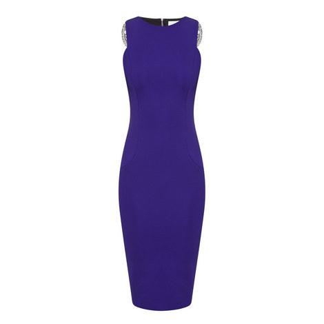 Lace Trim Pencil Dress, ${color}