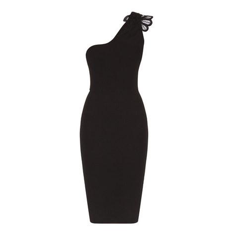 One Shoulder Lace Detail Dress, ${color}