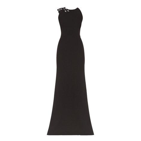 Lace Trim Gown, ${color}
