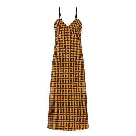 Checked Jacquard Slip Dress, ${color}