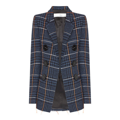 Check Double Breasted Jacket, ${color}