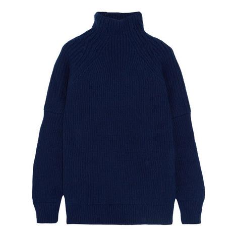 Puff Sleeve Polo Neck, ${color}
