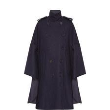 Button Down Cape Coat