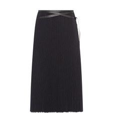 Strap Detail Pleated Skirt
