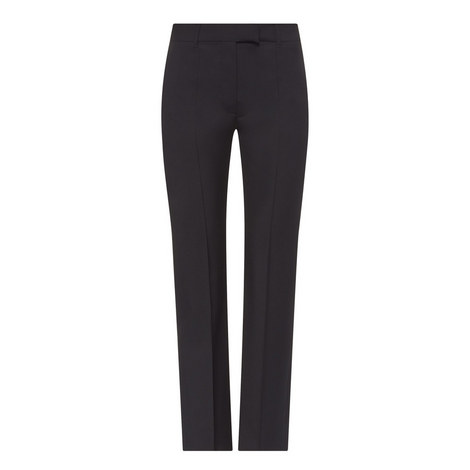 Straight Fit Wool Mix Trousers, ${color}