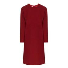 Long Sleeve Crepe Dress