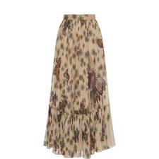 Butterfly Print Maxi Skirt
