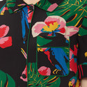 Printed Silk Shirt Dress, ${color}