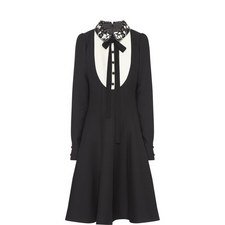 Bib Front Collared Dress