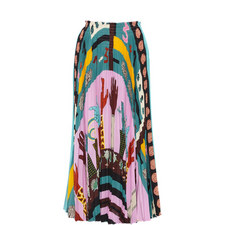 Counting Fingers Pleated Skirt