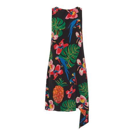 Drape Detail Patterned Dress, ${color}
