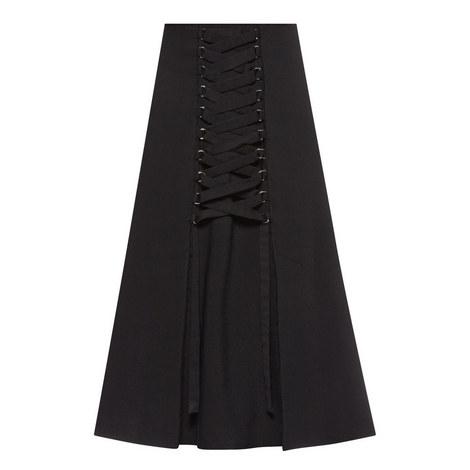 High-Waist Lace Skirt, ${color}