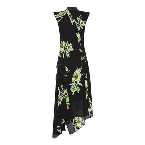 Asymmetric Floral Print Dress, ${color}