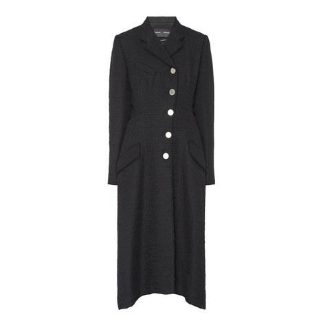 Tweed Asymmetrical Coat, ${color}