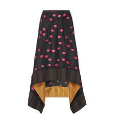 Pumpkin Print Drape Skirt