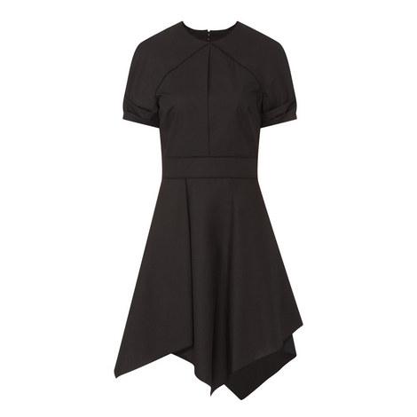 Asymmetrical Poplin Dress, ${color}