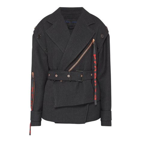 Belted Wrap Jacket, ${color}