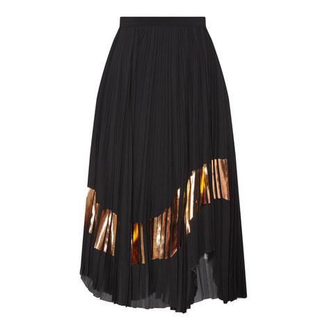 Foil Printed Skirt, ${color}