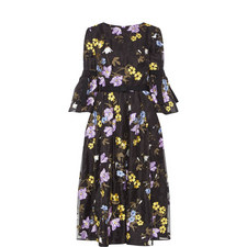 Ailsa Embroidered Floral Dress