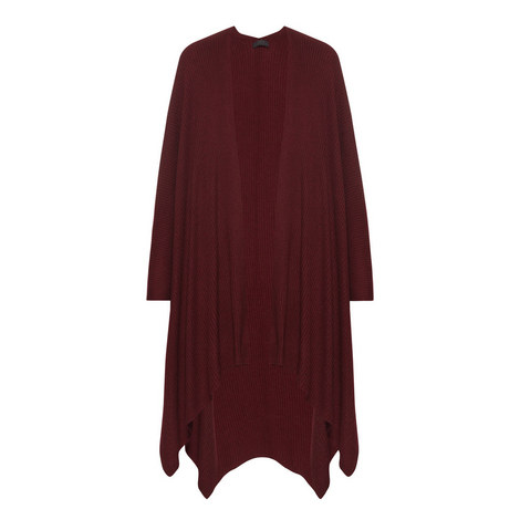 Relaxed Fit Cashmere Cape, ${color}
