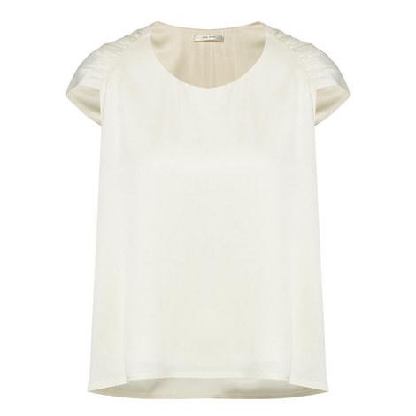 Ada White Cap Sleeve Blouse, ${color}