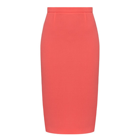 Arreton Wool Crepe Pencil Skirt, ${color}