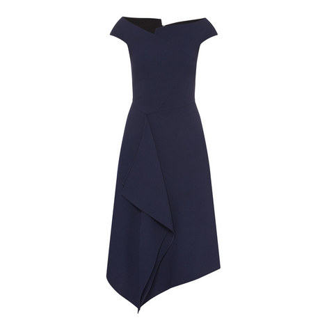 Barwick Crêpe Dress, ${color}