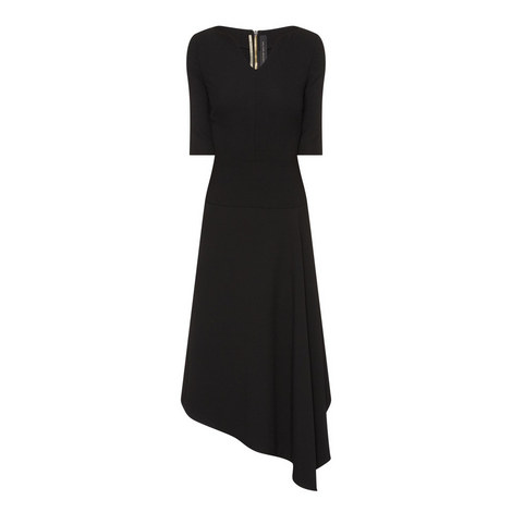Collen Asymmetrical Midi Dress, ${color}