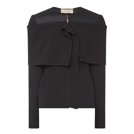 Zip Front Crêpe Jacket, ${color}