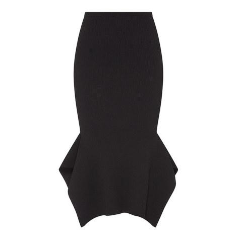 Fletcher Asymmetrical Peplum Midi Skirt, ${color}