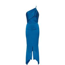 Harlow One-Shoulder Satin Dress