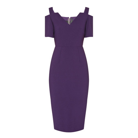 Awalton Crêpe Pencil Dress, ${color}