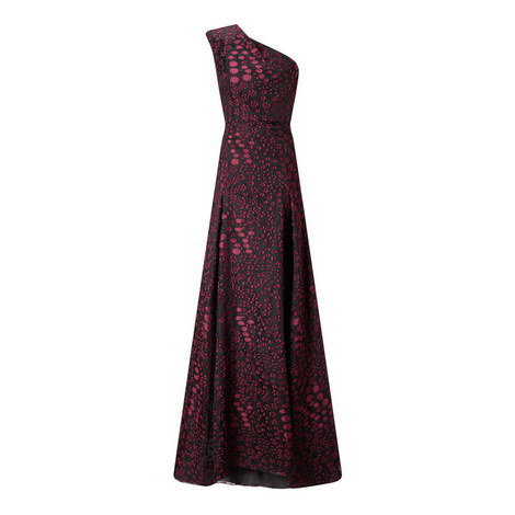 Hampstead One-Shoulder Gown, ${color}
