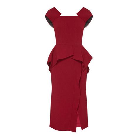 Sawleigh Peplum Dress, ${color}