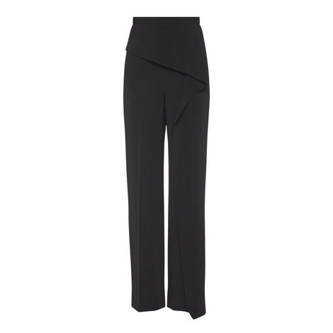 Coveney High-Waisted Draped Trousers, ${color}