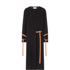 Relaxed Strap Detail Wool Coat
