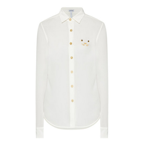 Embroidered Cat Shirt, ${color}