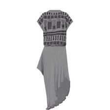 Frayed Knit Sweater Dress
