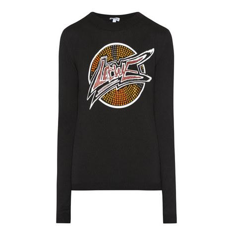 Embellished Logo Sweater, ${color}