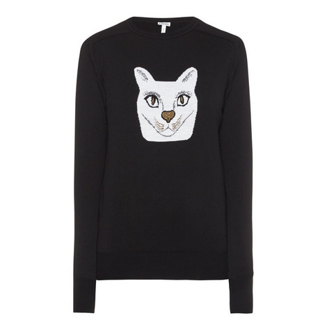 Cat Jacquard Sweater, ${color}