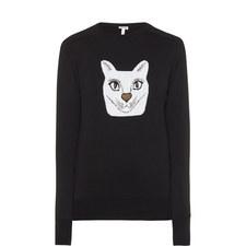 Cat Jacquard Sweater