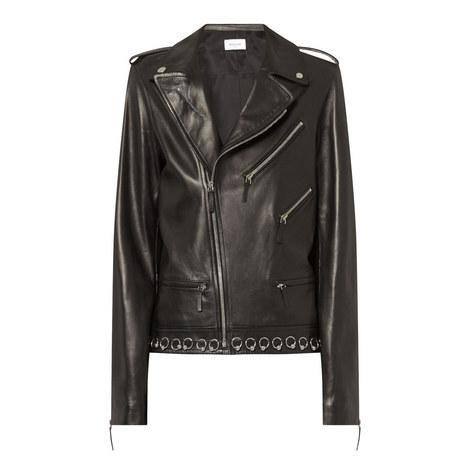 Embellished Biker Jacket, ${color}
