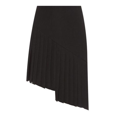 Pleated Asymmetrical Skirt, ${color}