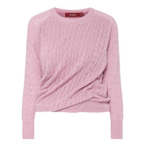 Libbie Round Neck Cashmere Sweater, ${color}