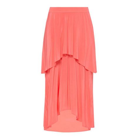 Paris Silk Layered Skirt, ${color}
