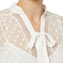 Pearl Lace Tie-Up Blouse, ${color}