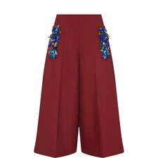 Embroidered Sequin Culottes