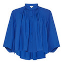 Poplin Cape Blouse, ${color}