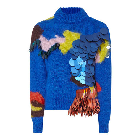 Intarsia Volume Sweater, ${color}